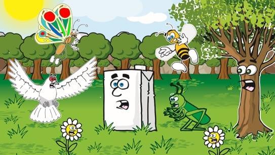 Cuento que muestra la importancia de no tirar residuos y reciclar los envases